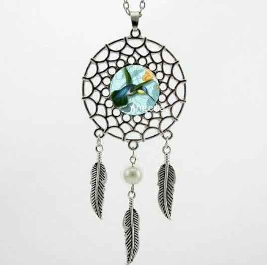 Hummingbird Dreamcatcher Necklace